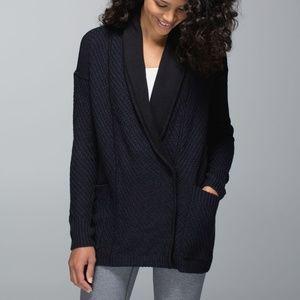 Lululemon Post Practice Cardi Cardigan Sweater